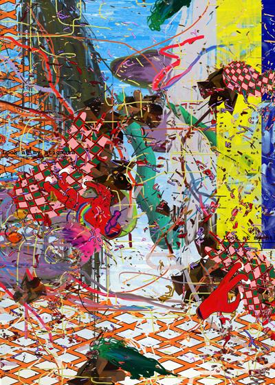 ©François Martinache - You put my heart in neoprene glue - Caca carnaval - Collections particulières - Tirage photo Lambda contrecollé sous Diasec - 115x172cm - 2ex - 2007