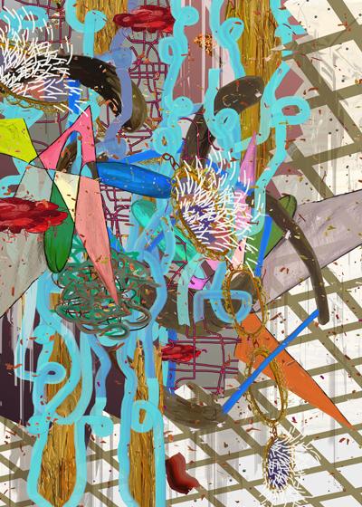 ©François Martinache - You put my heart in neoprene glue - T.R.E.N.D 2 (tendances récentes et nouvelles drogues) - Collection particulière - Tirage photo Lambda contrecollé sous Diasec - 115x172cm - 2007