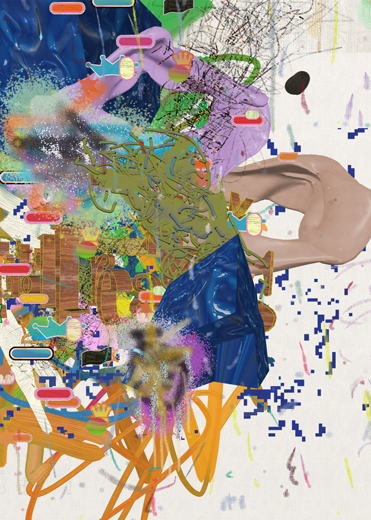 ©François Martinache - High Frequenccy - High Frequenccy 5 - Impression Epson sur papier Ultra Smooth - 70x90cm - 2014