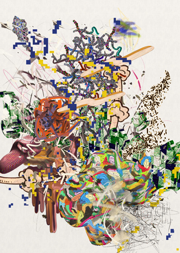 ©François Martinache - High Frequenccy - High Frequenccy 4 - Impression Epson sur papier Ultra Smooth - 70x90cm - 2014