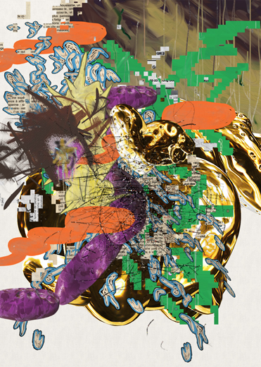 ©François Martinache - High Frequenccy - High Frequenccy 3 - Impression Epson sur papier Ultra Smooth - 70x90cm - 2014