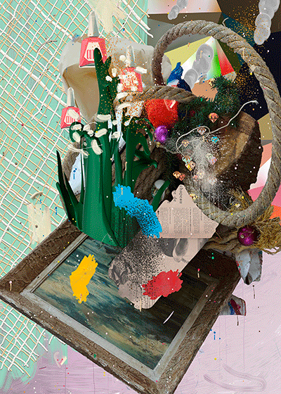 ©François Martinache - Digital Native - Sans titre 14 - Impression numérique Epson sur papier Ultra Smooth- - 110x140cm - 2015