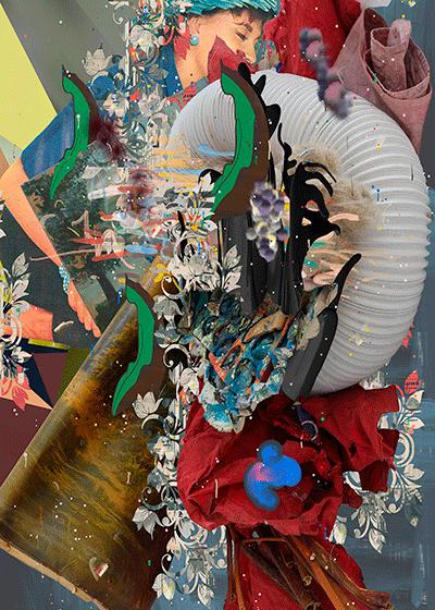 ©François Martinache - Digital Native - Sans titre 17 - Impression numérique Epson sur papier Ultra Smooth- - 2015